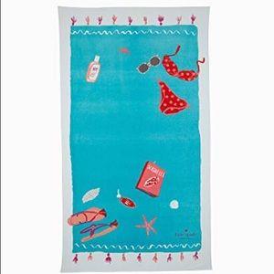 Kate Spade bikini seashells beach towel